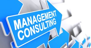 Management Consulting - Inscription on the Blue Cursor. 3D. Stock Images