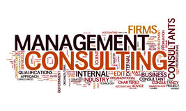 Management consulting text cloud. An image of a management consulting text cloud Royalty Free Stock Photography
