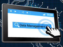 Management Data Shows Manager Bytes And Administration Stock Image