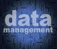 Management-Daten bedeuten Direktions-Organisation und Wissen lizenzfreie abbildung