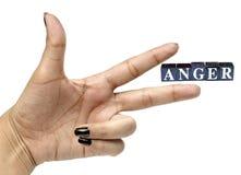 Management de colère Photographie stock