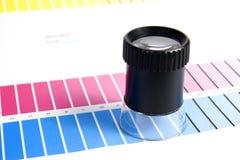 Management de couleur - loupe image libre de droits