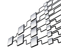 Management de graphique d'organigramme de réseau Image stock