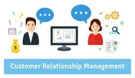 Management de rapport de propriétaire (CRM) illustration de vecteur