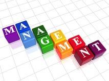 Management in der Farbe Stockfoto
