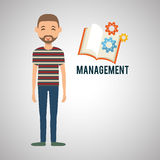 Management design. Person icon.  illustration. Management concept with icon design, vector illustration, person with business and money icon Stock Images