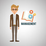 Management design. Person icon.  illustration. Management concept with icon design, vector illustration, person with business and money icon Royalty Free Stock Image