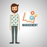 Management design. Person icon.  illustration Stock Images