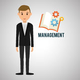 Management design. Person icon.  illustration. Management concept with icon design, vector illustration, person with business and money icon Royalty Free Stock Photo