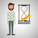 Management design. Person icon.  illustration Royalty Free Stock Photos