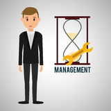 Management design. Person icon.  illustration Royalty Free Stock Photography
