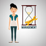 Management design. Person icon.  illustration Stock Photo