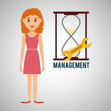 Management design. Person icon.  illustration Stock Photography