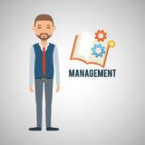 Management design. Person icon.  illustration. Management concept with icon design, vector illustration, person with business and money icon Stock Photos
