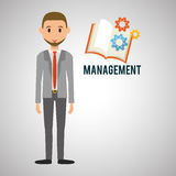 Management design. Person icon.  illustration. Management concept with icon design, vector illustration, person with business and money icon Stock Image