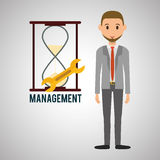Management design. Person icon.  illustration Royalty Free Stock Images
