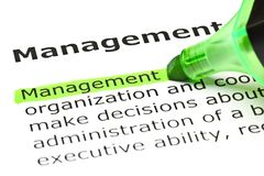 Management Dictionary Definition Green Marker Royalty Free Stock Photo