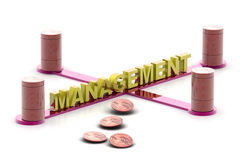 Management  and dollar Royalty Free Stock Images