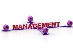 Management et monde Images libres de droits