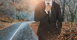 Management expresses confidence in the forest. Business concept royalty free stock photo