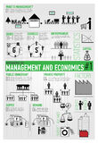 Management, Finance, Economics Infographics 1/3 Stock Image