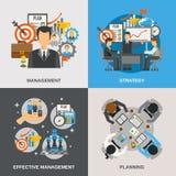 Management Flat Set Stock Photos