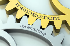 Management and Forecasting on the gearwheels Royalty Free Stock Images