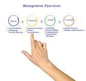 Management functions. Presenting diagram of management functions Royalty Free Stock Photography