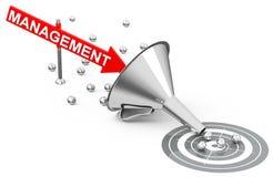 Management goals. 3d generated picture of a management goals concept vector illustration