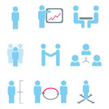 Management and human resource icons stock photo