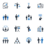 Management and Human Resource Icons - Blue Series Stock Photography