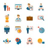 Management Icon Flat Stock Images