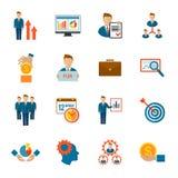 Management Icon Flat Stock Images