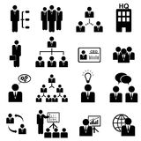 Management icon set Stock Photo