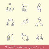 Management Icon Set Royalty Free Stock Photos