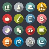 Management icon set Stock Images