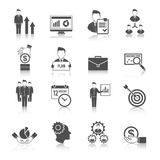 Management Icon Set Stock Image