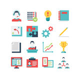 Management Icon Set Royalty Free Stock Images