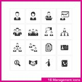 Management icon set. Stock Image
