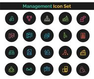 Management  Icon SET Vector illustration. Vector Illustration. Easy TO use 100% vector design and vector file formats. 100% Professional Design Royalty Free Stock Photography