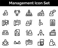 Management Icon SET Vector illustration. Vector Illustration. Easy TO use 100% vector design and vector file formats. 100% Professional Design Royalty Free Stock Photos