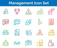 Management  Icon SET Vector illustration. Management Icon SET Vector illustration Vector Illustration. Easy TO use 100% vector design and vector file formats Stock Image
