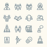Management icons royalty free illustration