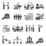 Management Icons Set Stock Image