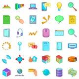 Management icons set, cartoon style. Management icons set. Cartoon style of 36 management vector icons for web isolated on white background Stock Photography