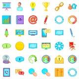 Management icons set, cartoon style. Management icons set. Cartoon set of 36 management vector icons for web isolated on white background Royalty Free Stock Image