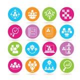 Management icons Royalty Free Stock Image
