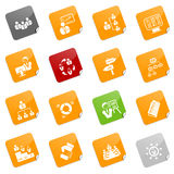Management icons - sticky series. Set of 16 different management icons, sticky series. EPS file includes each icon in 5 colors Royalty Free Stock Photo