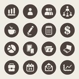 Management icons Royalty Free Stock Photography