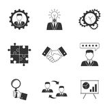 Management icons on white background. Management icons. Business strategy concept Stock Photography